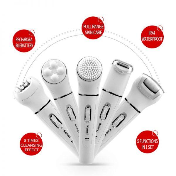 מכשיר להסרת שיער וטיפוח הגוף 5 ב-1