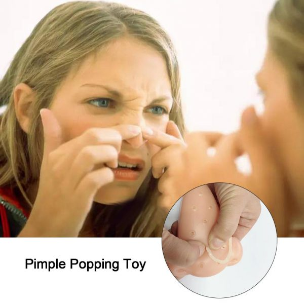 Pimple Popping Popper Novelty Gags Practical Jokes Peach Funny Remover Stop Squeeze Acne Squishy Anti Stress Toy Christmas Gift